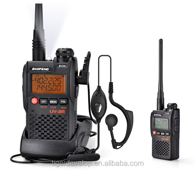 dual band 5w handheld vhf uhf baofeng uv 3r dual display
