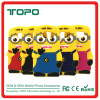 Cute Despicable Me Minion Animal 3D Cartoon yellow people model soft silicon phone cover Shockproof case for Samsung s7 s7 edge