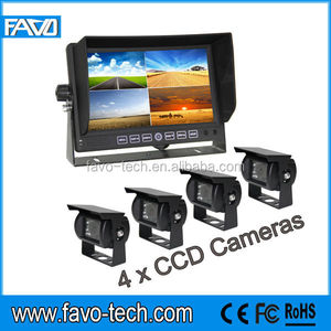 "DC12V & 24V Heavy Duty Four Camera Reversing System Split 7"" Monitor"