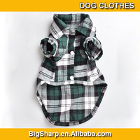 100pcs Fashion Favorites Compare cotton pet Plaid Shirt for Dogs, Doggie Blouse, Scotland, Wholesale dog clothes DC-006