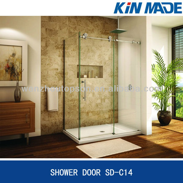 Bathroom bath shower screen/shower cabin with sliding door