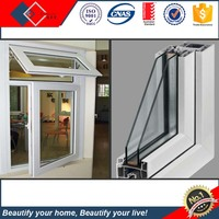 Standard Size PVC Profile Or Thermal Break Alminium Window Profile Door And Window Project With Double Glazing Glass