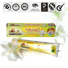 50g high quality orange flavor toothpaste brands for kids / different toothpaste brands / kids whitening toothpaste