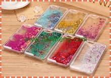 Swimming Fishes Liquid Transparent Hard Cover Case For Apple iPhone 6 5 5s 4 4s