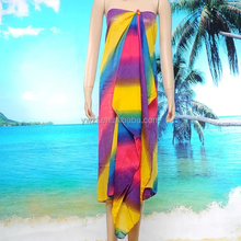 Supply Russians chiffon silk cheap pareos/ sarongs Beach scarf