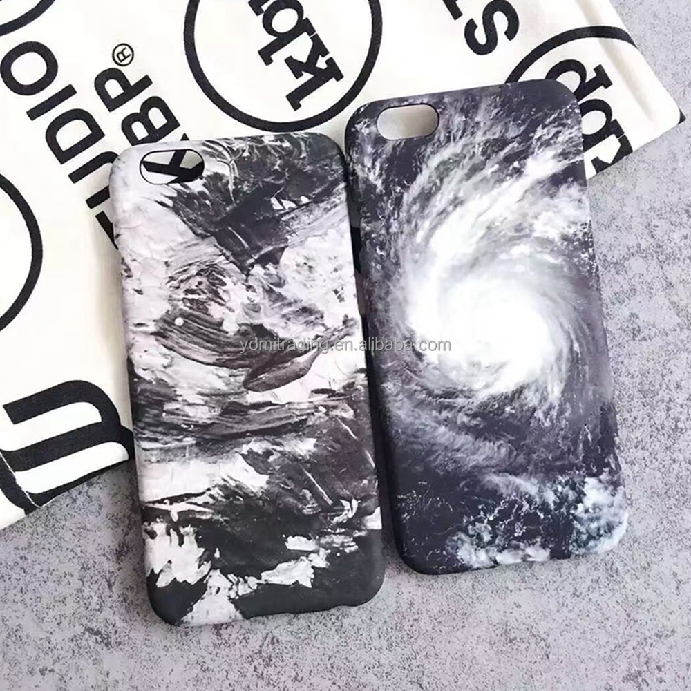 Fashion Simple White Black Printing Art Wind Storm Cloud Marble Phone Case for iphone 6 6s Plus Soft TPU Cover Case Capa Fundas