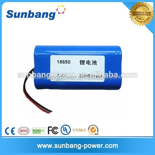 Rechargeable hs code 18650 lithium ion battery 7.4v