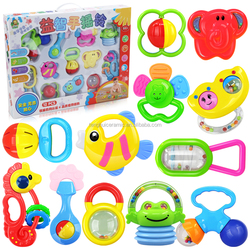 infant rattle with 3C certification plastic Children toys series OEM order are available