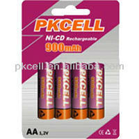 High quality Ultra High Capacity AA Size Nickel Cadmium Rechargeable battery