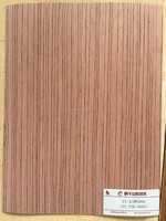 red padauk engineered wood veneer padauk-588S straight cut for decoration