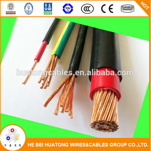 4mm stranded copper conductor pvc insulated single core BV cable/multi stranded electric wire