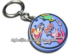 hot selling fashion customized 3D soft pvc keyring wholesale with logo for promotion gifts BJ-K003