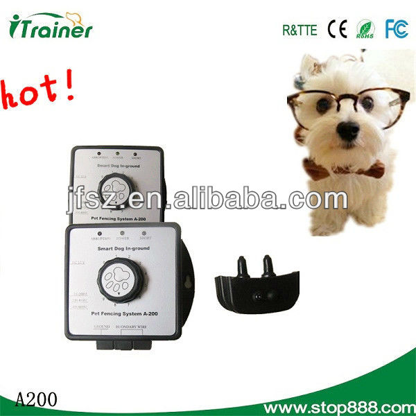 Wireless Invisible ultrasonic pet fence A200 electric boundary for dogs