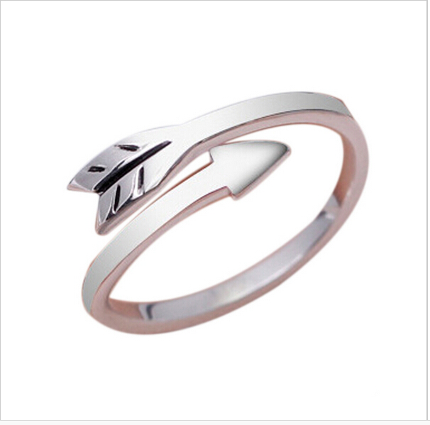 latest gold rings design for women metal silver arrow s shaped rings jewellery