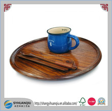 Europe Regional Feature and Nautical Style round wooden serving tray CN
