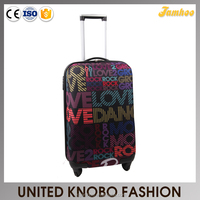 EVA fabric printing luggage soft case multiwheel luggage