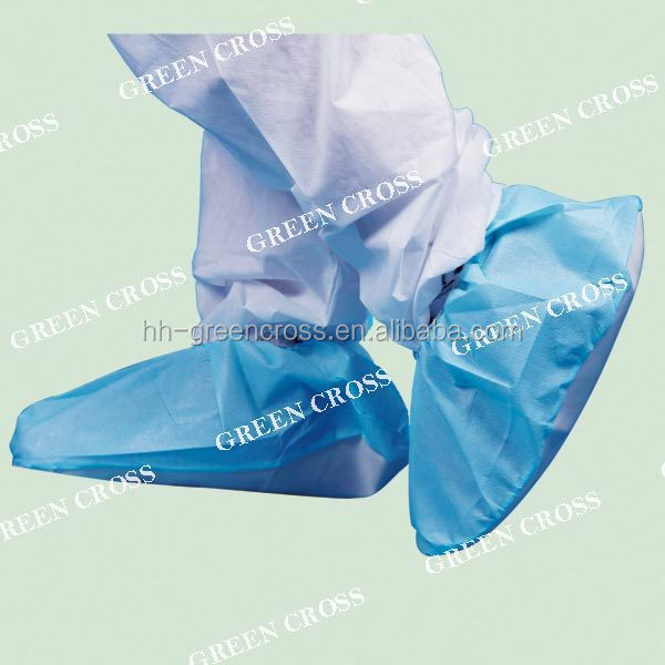 OEM Shoe Cover with PE/PVC sole, work great on a wide range of floor surfaces,Clear PVC or White PVC or SRM PU or PE coated PP