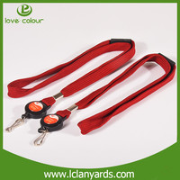 Promotional custom polyester lanyards with pull key reels