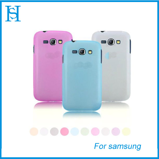 Ultra-thin Clear Matte Silicone Case Cover for Samsung Galaxy Core I8260 I8262 shell cover