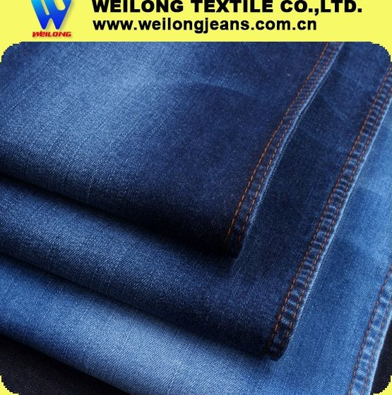 "B3274D 58/59"" 8.5oz indigo blue cotton spandex denim jeans fabric"