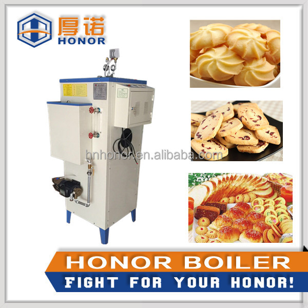 Vertical boiler steam generator for food cooking processing