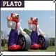 outdoor standing custom inflatable fox model for advertising