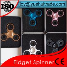 Colorful Three Arms Alloy Metal Hand Spinner MOQ 1 pc Fideget Spinner In Stock