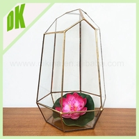 2015 new planters vase/ geometric glass terrarium display container case , Cheap Waterproof flower outdoor Glow LED Flower Pot