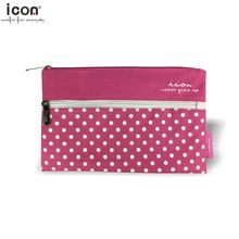 Pink color plat pencil case for school