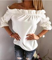 2016 explosion models latest designs leisure t shirts lotus leaf collar blouses shirts for women from china suppliers ZC2001