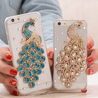low price Peacock Diamond Mobile Phone Accessory Wholesale for iPhone 6 Mobile Phone Accessories Factory in China