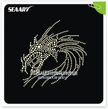 Chinese Dragon Heat Rhinestone Transfer For Garment