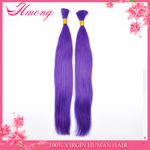Perruque Brazilian Hair Purple Human Hair Weave