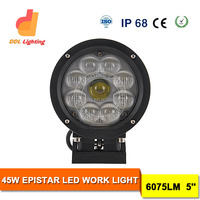 Hot sale wholesales auto parts factory 45W led light, 4x4 off-road led work light, waterproof car work lamp