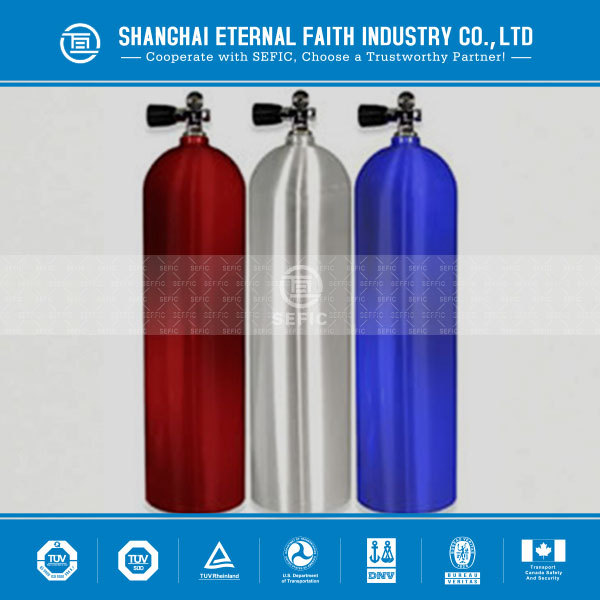 SEFIC(32) 12L Aluminum Oxygen Gas Cylinder Price For Sale in Scuba Diving