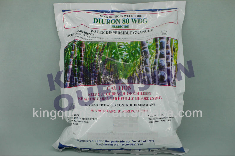 for control of weeds and glasses herbicide Diuron 80% WDG, 80% WP
