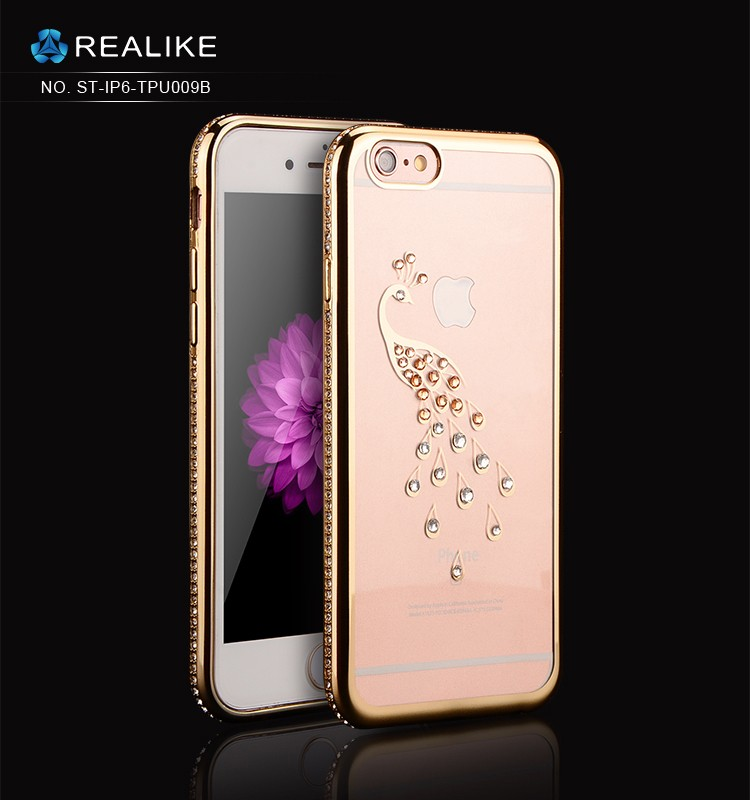 For iphone 7 case electroplating tpu ultra soft clear tpu Bling diamond phone case