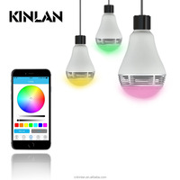 LED Light Bulb with Smart Bluetooth Speaker and APP Control RGB Multi Color Changing Dimmable