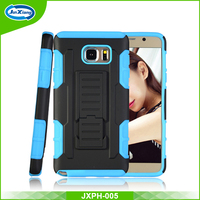 Protective mobile phone back cover holster case for samsung galaxy note 5
