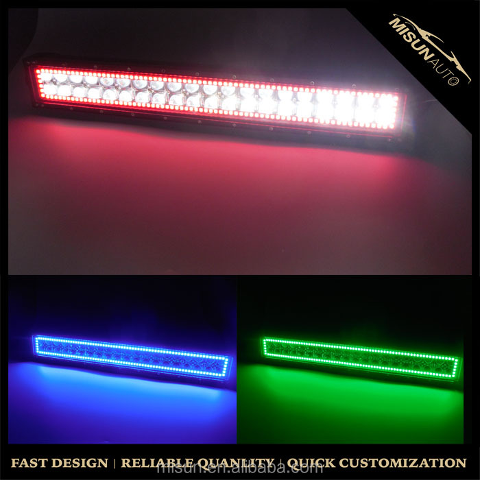 "52""LED 12V 24V strobe light bar led pods halos remote control RGB flashing Truck fog lamps"