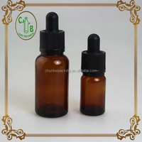 Round Bottom 30ml Glass Dropper Bottle With Childproof Dropper / Cosmetic Dropper Bottle Glass