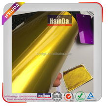 Reflective mirror effect candy gold yellow powder coating for stainless steel