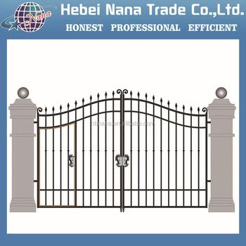 Alibaba Hot Sale Indian House Main Gate Designs / Iron Main Gate ...