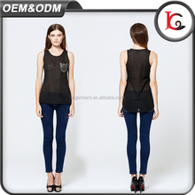 good quality applique cool sexy girls sleeveless vest fashion summer fancy tops for ladies