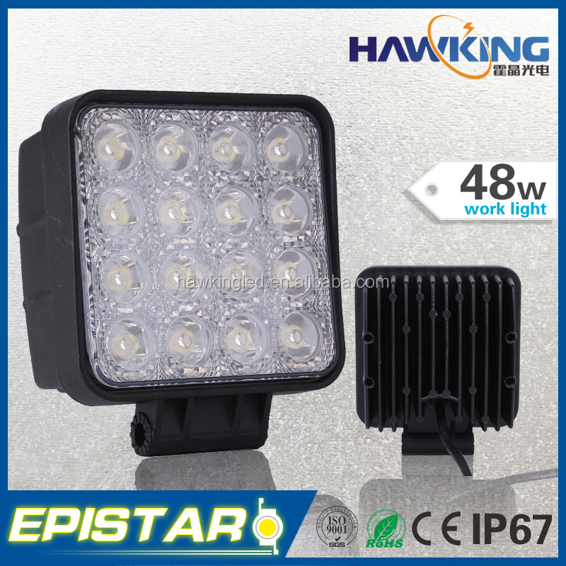 48W square flood or spot led auto lamp IP67