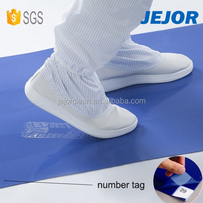 45X90cm Peelable Disposable Blue Cleanroom Sticky Mat