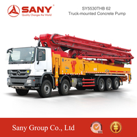 SANY SYG5530THB C8 Series Smart Boom System for Truck Mounted Concrete Pump 62m of Concrete Pump Truck for Sale