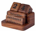 Faded effection wooden calendar for home decoration