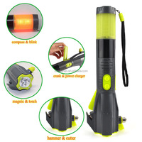 New Product CE ROHS FCC Car Battery Booster Pack with Emergency LED Flashlight Safety Hammer Knife