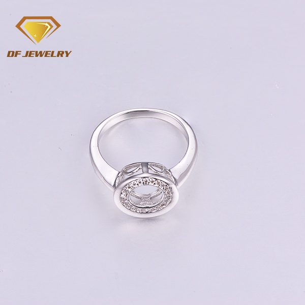 Fashion bling bling micro pave cz brass men ring